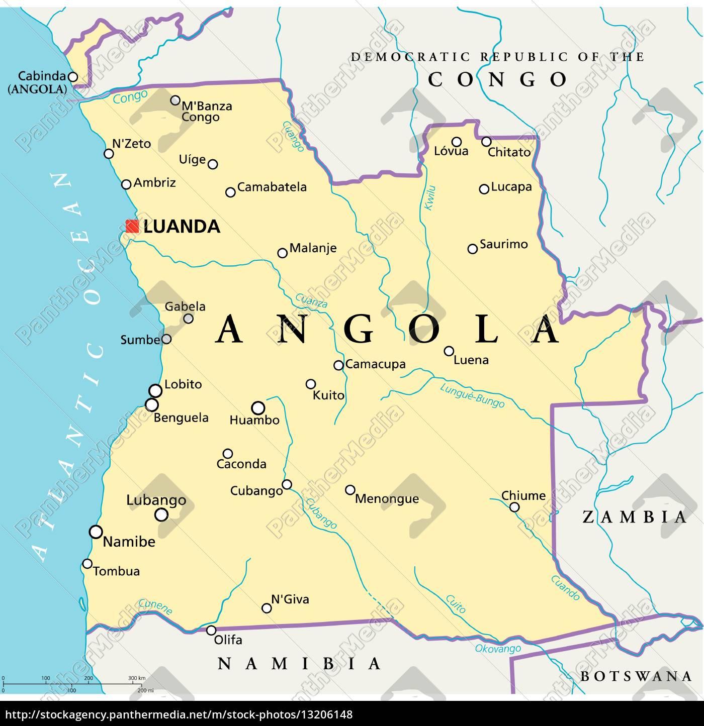 Polenmärkte Karte.Angola Karte Goudenelftal