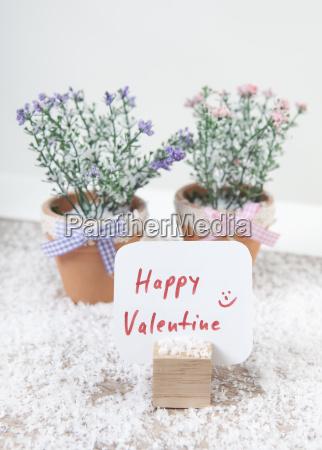 schild happy valentine