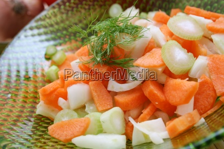 raw fruit and vegetables salad