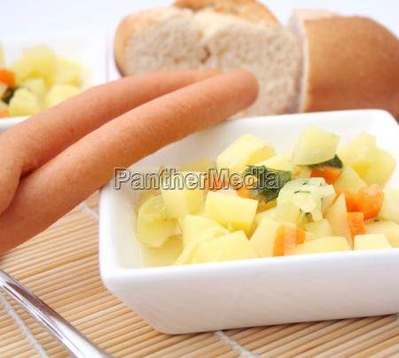 eintopf kartoffelsuppe kartoffeleintopf speisen abendessen mahlzeit