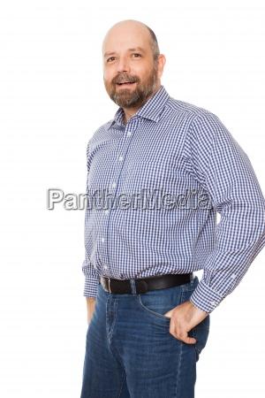 froehlicher mann mit bart