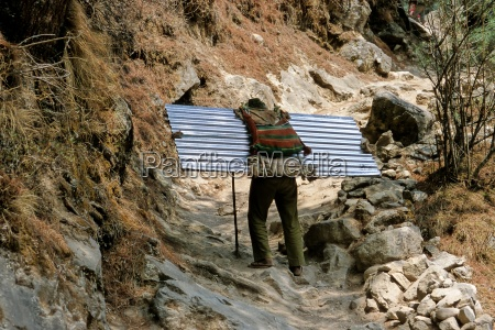 asien himalaja nepal khumbu berg berge