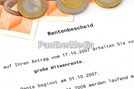 rentenbescheid pension approval certificate