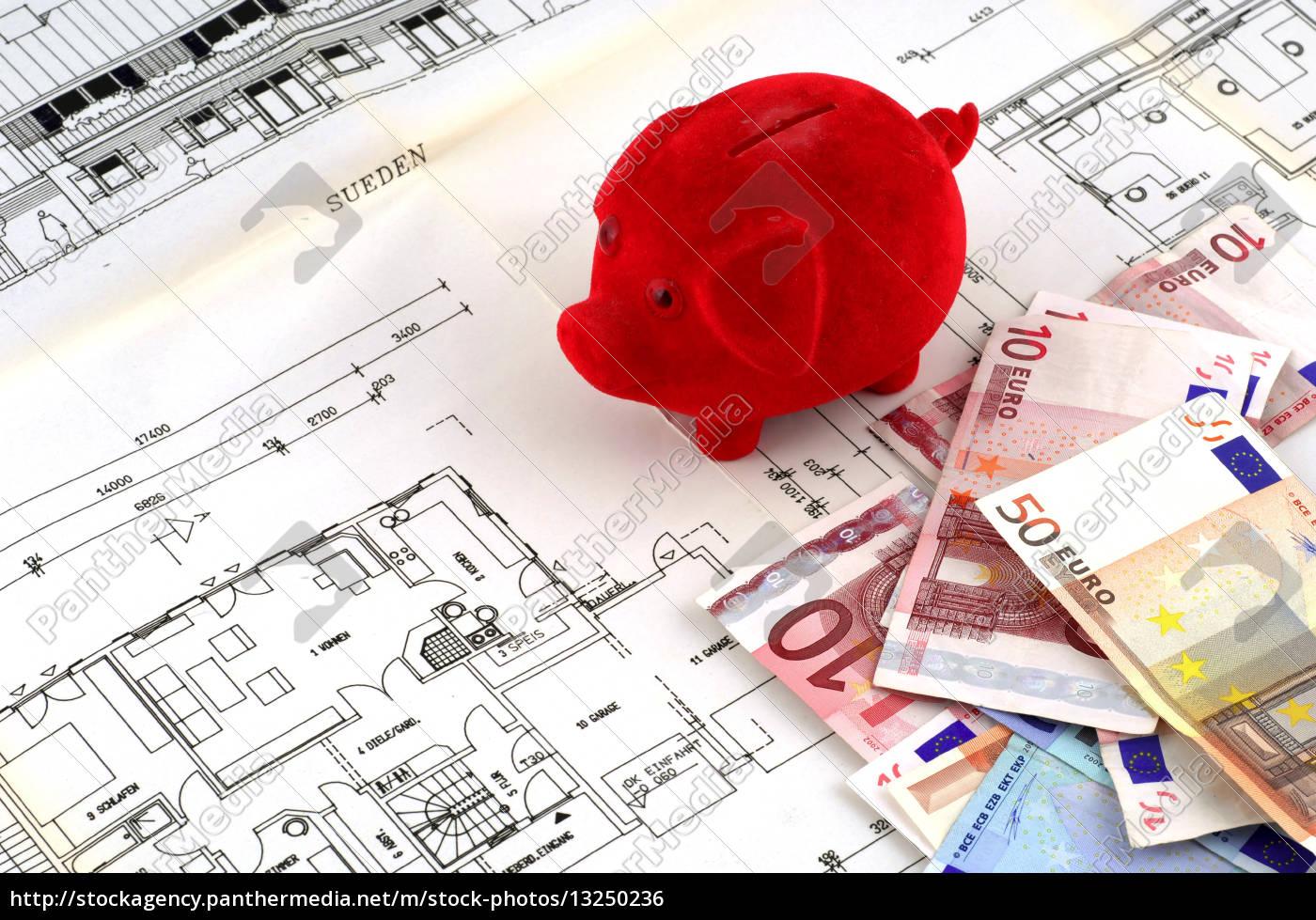 Lizenzfreies Foto 13250236 - Sparen für den Hausbau