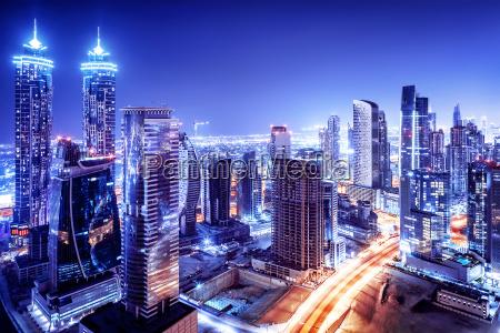 dubai downtown nachtszene