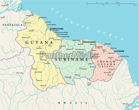 guyana surinam und franzoesisch guayana politische