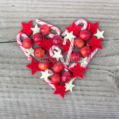 candy canes heart heart shape love