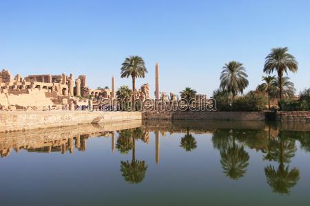 karnak temple complex in luxor egypt