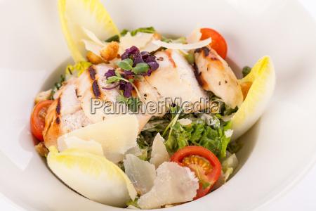 parmesan fresh delicious caesar salad with