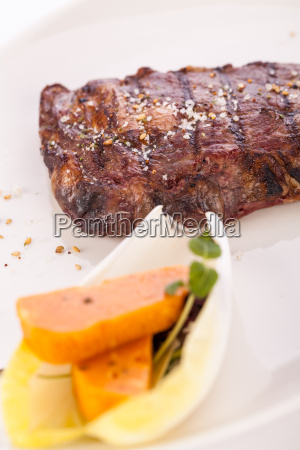 succulent grilled beef fillet steak with