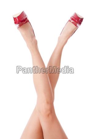 sexy lange beine einer attraktiven frau