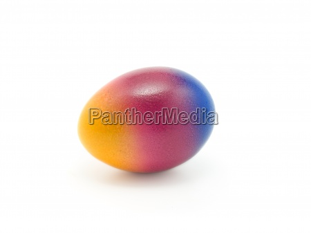 colorful easter egg isolated in white