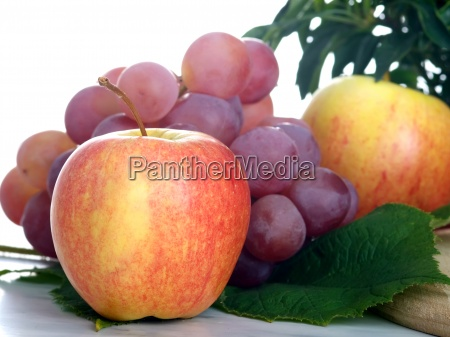 ffresh fruits on table isolated on
