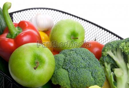 basket full of fresh colorful vegetables