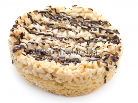 cookies with chocolate glaze isolated on
