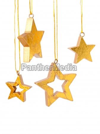 sfondo di stelle di natale doro