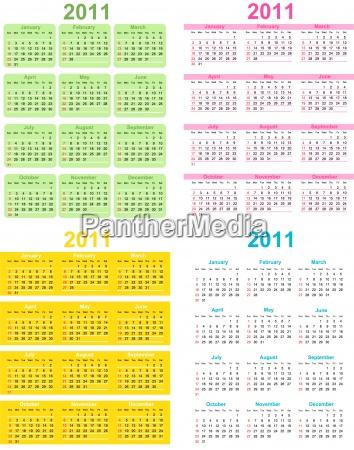 juego de calendario 2011 semana comienza