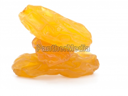 close up raisins sultana isolated on