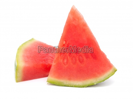 two slice of water melon on