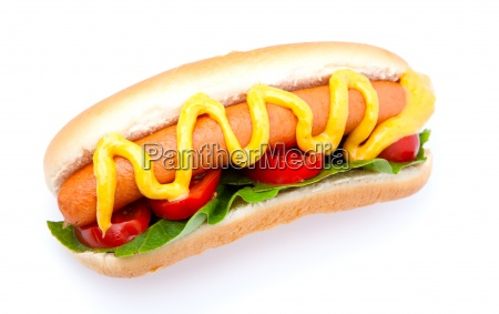 hot dog with vegetables on a