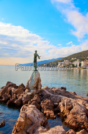 opatija in croatia sculpture of the