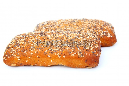 tasty bun isolated on a white