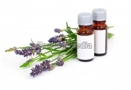 aromatherapy lavender oil and lavender flower