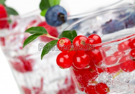 juice cocktail with currant blueberry and