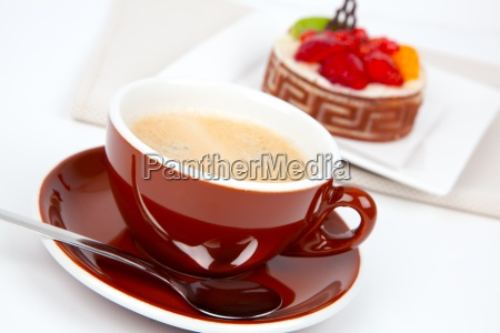 tasse kaffee mit kuchen quarkkuche
