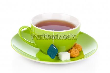 gruene tee tasse