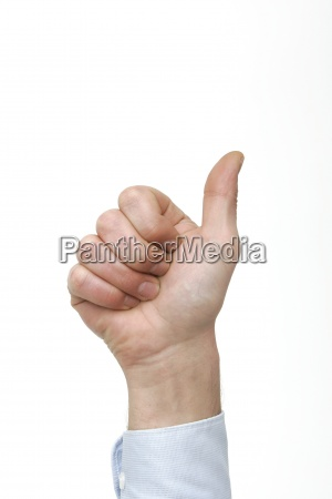 hand finger zaehlen zahl eins daumen