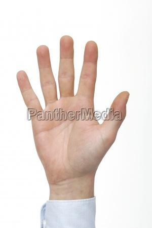 hand finger zaehlen zahl fuenf geste