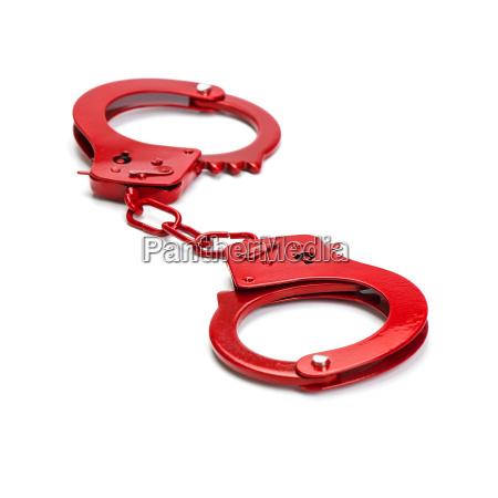 rote handschellen