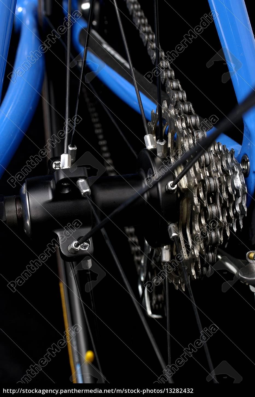 blau sport metall rad kette fahrrad rahmen reifen - Lizenzfreies ...
