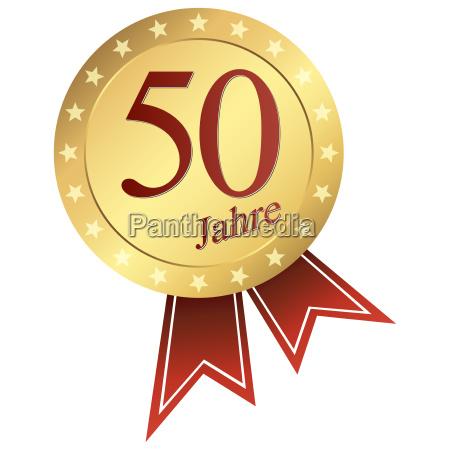 gold button german jubilaeum 50