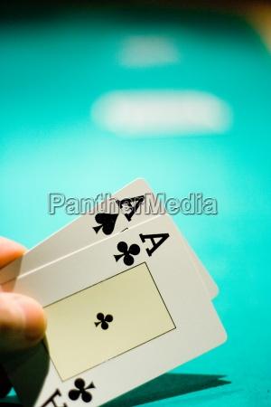 karten poker dealer ass as asse