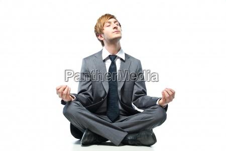 mann person manager business entspannt entspannung