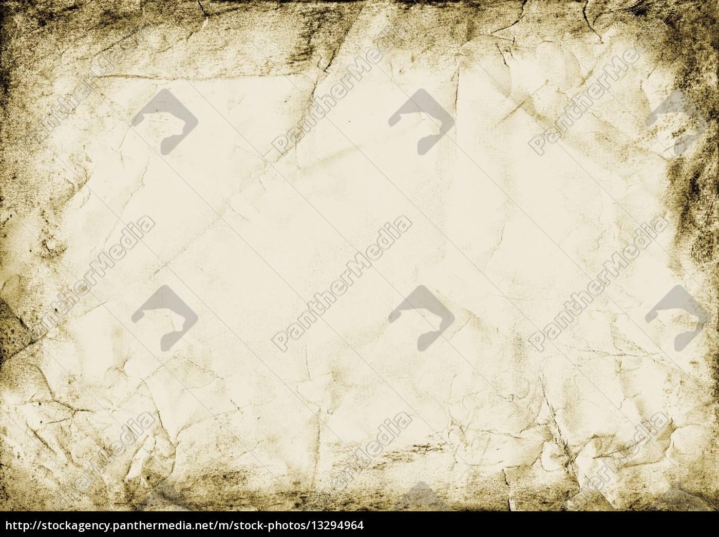 alt karte papier rahmen grunge falten schmutzig dreckig ...
