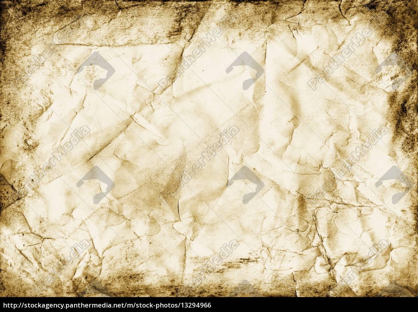 alt karte papier rahmen grunge falten schmutzig dreckig - Stock ...