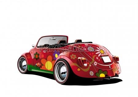 hippie beetle convertible white