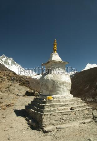 stupa im himalaja solo khumbu