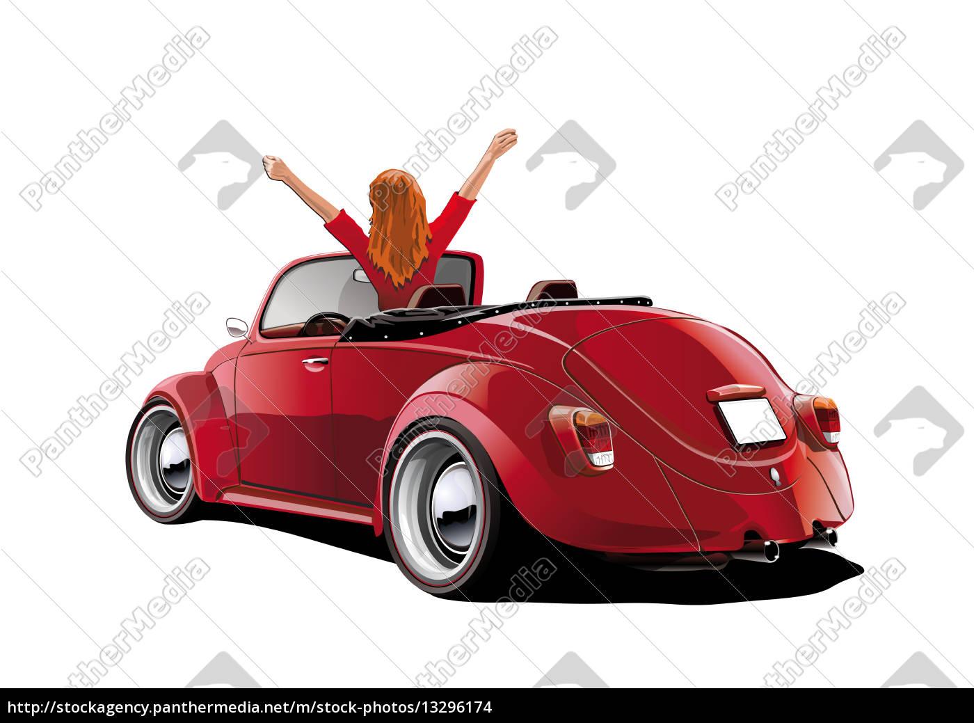 beetle-cabriol-frau - 13296174