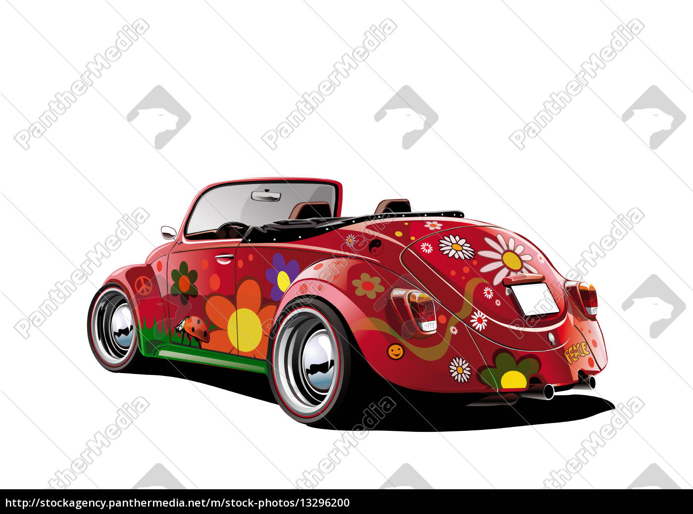 hippie-beetle-cabrio-white - 13296200