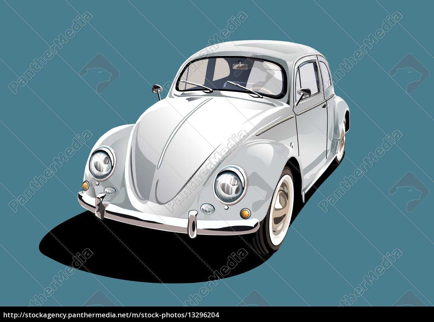 white, classic, car - 13296204