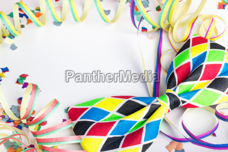 streamers confetti party carnival colorful cheerful
