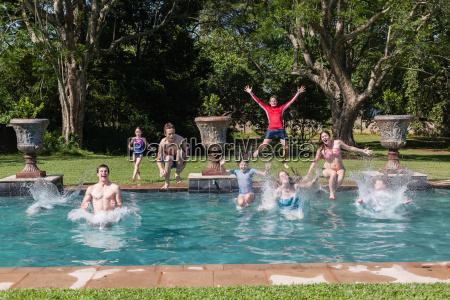 girls boys swimming pool