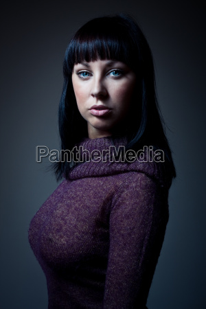 sexy girl in sweater