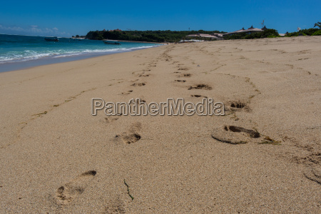 beautiful lonely sandy beach in the