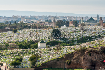 view over the ancient islamic cemetery