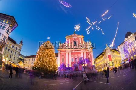preserens square ljubljana slovenia europe